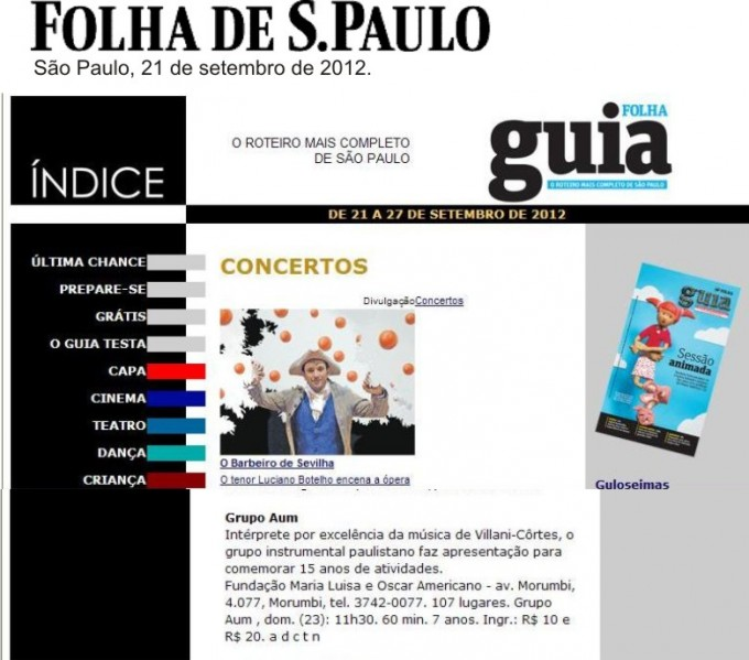 Folha de SP Revista AUM