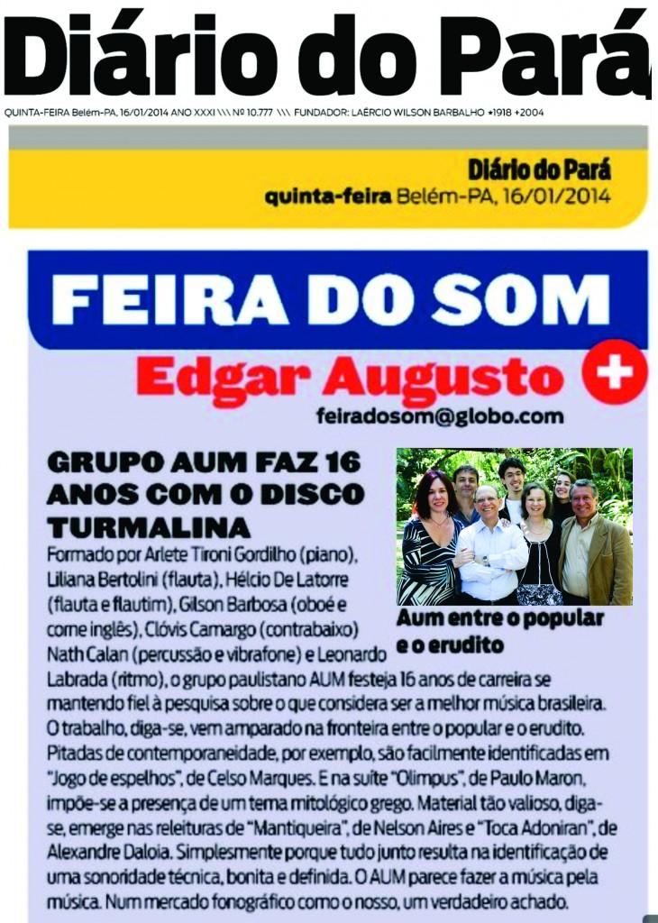AUM no Diário do Pará 16 01 14